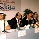 Khaldoun with colleagues at a symposium. Kuwait