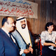 Khaldoun with Fahad Al Ahmad Al Sabah, Noureya Al Roomi and unknown. Kuwait University, 1987