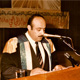 Khaldoun delivering a speech at the graduation ceremony, College of Arts, Kuwait University