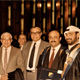 Khaldoun with student and colleagues at graduation. Kuwait University