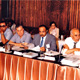 Khaldoun with colleagues at a symposium